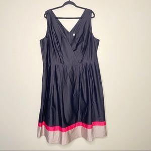 Calvin Klein fit and flare v-neck dress